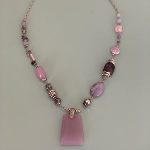 Ganz gemstone and quartz Necklace